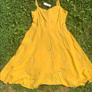 COPY - Old navy yellow dress with flowers